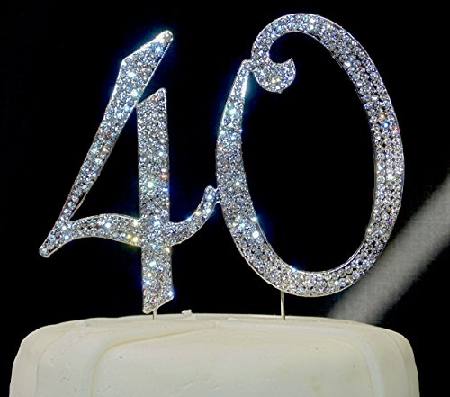 large-sparkling-silver-rhinestone-40-happy-birthday-cake-topper-by-forbes-favors
