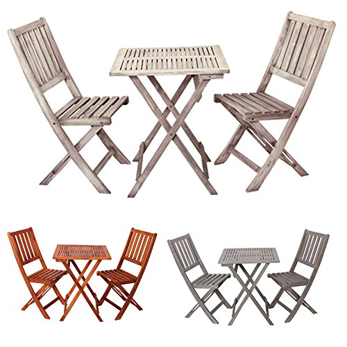 Balkonset-aus-Holz-3-teilig-Demeter-perfekt-fr-Balkon-Garten-oder-Terasse-Eukalyptusholz-2x-Klappstuhl-1x-Klapptisch-Bistro-Set-klappbar-vintage-retro-Gitteroptik-Vintagewei