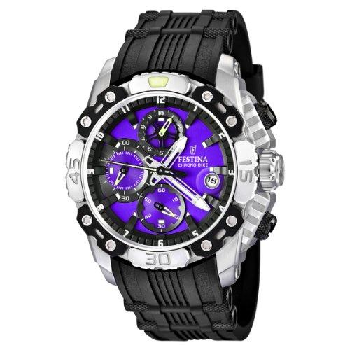 Festina Chronobike 2011 F16543/A - Reloj cronógrafo de cuarzo para hombre, correa de goma color negro (cronómetro)