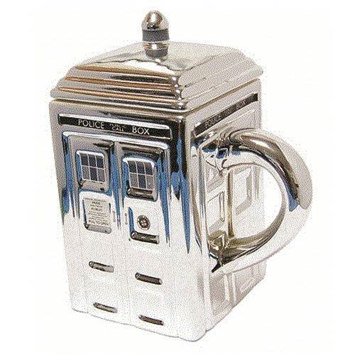 Doctor Who Tardis Mug 3-D Ceramic - Silver