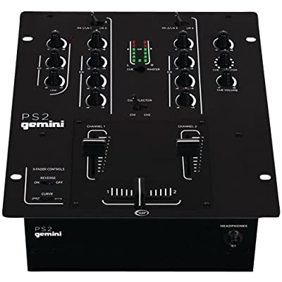 gemini dj PS2 2 Channel 10-Inch Mixer