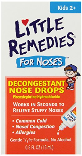Little Remedies Decongestant Nose Drops, Children 2+, .50 fl oz (15 ml) (Pack of 4) (Kids Nasal Spray compare prices)