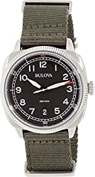 Bulova Men's 96B229 Analog Display Japanese Quartz Green Watch