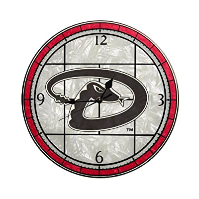 MLB Arizona Diamondbacks 12-Inch Art Glass Clock