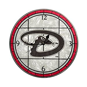 MLB Arizona Diamondbacks 12-Inch Art Glass Clock by The Memory Company