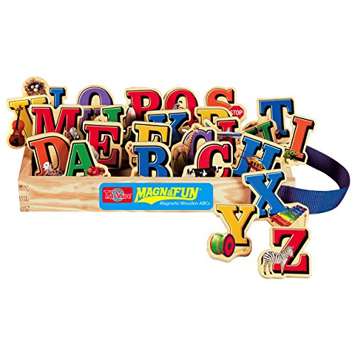 T.S. Shure Alphabet Letters Wooden Magnets 26 Piece MagnaFun Set - 1