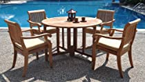 Big Sale 5pc Luxurious Grade A Teak Dining Set.