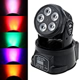 Lixada DJ Moving Head Stage Effect Lights 75W RGBWY Par Wash Light 10/15 Channels 4 Control Modes for Disco Club Party Wedding