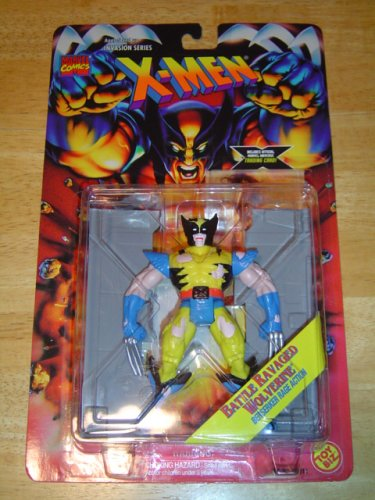 X-Men Invasion Series Battle Ravaged Wolverine Action Figure - 1