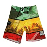 Search : Billabong Bob Marley Boys Skate &amp; Surf Boardshort Board Shorts - Multicolor