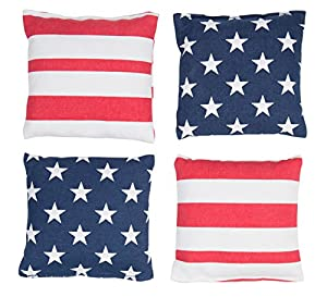 Trademark Innovations ACA Official Bean Bag and Cornhole Bags, Stars and Stripes