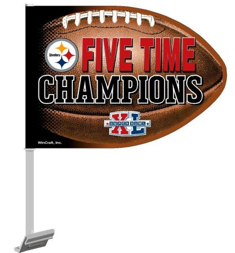 Wincraft NFL Pittsburgh Steelers Super Bowl Champions Football Shaped 10.75