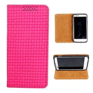 i-KitPit PU Leather Flip Case For Micromax Canvas 3 A115 (PINK)