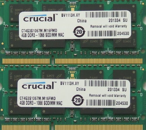 Ram memory upgrade 8GB kit (2 x 4GB) DDR3 PC3 8500 1067MHz 204 PIN SODIMM for Apple Mac mini - (Intel Core 2 Duo 2.0GHz DDR3) MB463LL/A ; Mac mini (Intel Core 2 Duo 2.0GHz DDR3) MB464LL/A ; Mac mini (Intel Core 2 Duo 2.26GHz) DDR3 - Late 2009 ; Mac mini (Intel Core 2 Duo 2.4GHz) DDR3 - Mid 2010 ; Mac mini (Intel Core 2 Duo 2.53GHz) DDR3 - Late 2009 ; Mac mini (Intel Core 2 Duo 2.66GHz) DDR3 - Late 2009 and Mac mini (Intel Core 2 Duo 2.66GHz) DDR3 - Mid 2010.