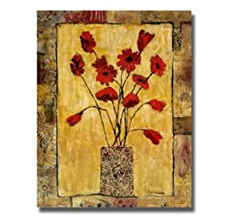 Red Flowers by Bagnato Premium Stretched Canvas (Ready-to-Hang)