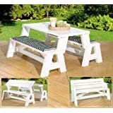 "Convert-A-Bench (white) (assembled 31"" H x 60"" L)"