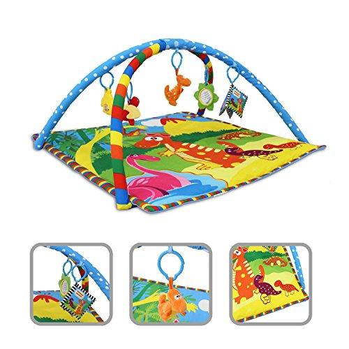 Tapis-dveil-pour-bb-Tapis-dactivit-motifs-dinosaures-avec-arcs-et-jouets-ducatifs