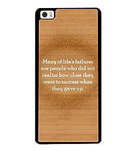 Printvisa 2D Printed Quotes Designer back case cover for Xiaomi Mi 5 - D4551