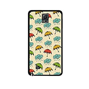 Vibhar printed case back cover for Samsung Galaxy Note 4 RainStuff