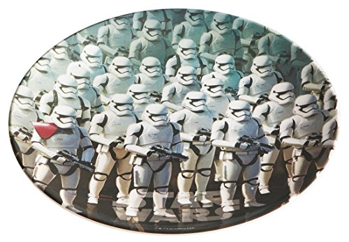 Japan Disney Official Star Wars the Force Awakens - Sandtrooper & Stormtrooper Empire Classic Old Movie Poster Round Dinner Plate Bowl Flat Food Dish Melamine Plastic Flatware Dishware Dinnerware Pattern Fine China Japan