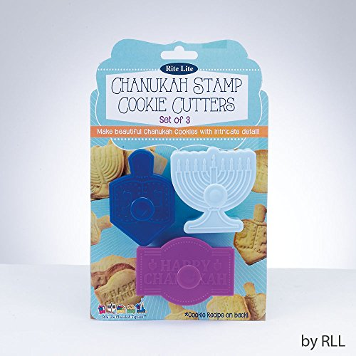 Chanukah Stamp Cookie Cutters- Set of 3