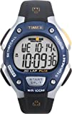 Timex Men's T5E931 Ironman Traditional 30-Lap Black/Silver-Tone/Blue Resin Strap Watch