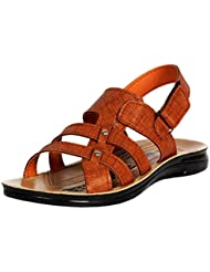 FUOKO AMAZE TAN MEN's PU SANDALS / FLOATERS