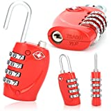 CellDeal 2 X TSA Security 4 Combination Travel Suitcase Luggage Bag Code Lock Padlock