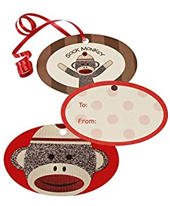 Sock Monkey Gift Tags