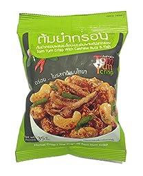 Tom Yum Crisp with Cashew Nuts & Fish with Herbal Crisp 35 G. X 3 Packs