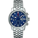 Revue Thommen Airspeed XLarge Men's Blue Dial Stainless Steel Automatic Chronograph Day Date Swiss Watch 16051.6135