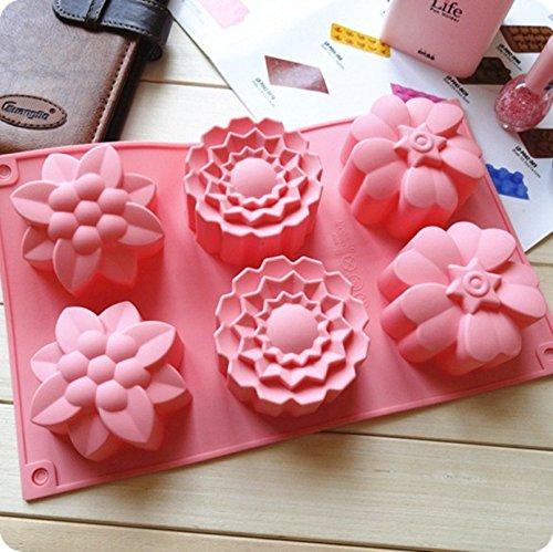 Allforhome-TM-6-fleurs-de-silicone-moules--muffins-main-moules--savon-Biscuit-moule-de-glace-au-chocolat-gteau-moule-de-cuisson-Cake-Pan-Savon-Outil-bricolage