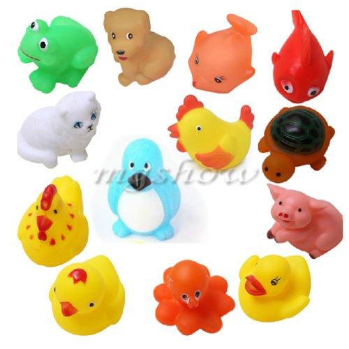 13 verschiedene quietschende schwimmenden Tiere/Ocean Rubber Baby Badewanne Spielzeug Kinder