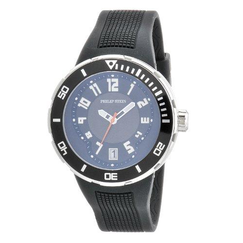 Philip Stein Men's 34-BB-RB Extreme Black Rubber Strap Watch