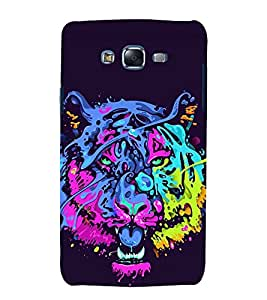 printtech Tiger Funky Art Abstract Back Case Cover for Samsung Galaxy A3 / Samsung Galaxy A3 A300F