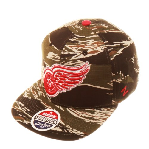 NHL Detroit Red Wings Urban Jungle Hat, Camo/Tiger at Amazon.com