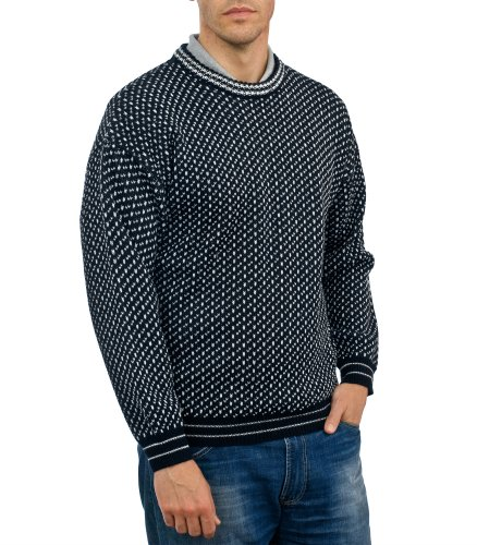 Mens Nordic Style Jumper Navy Medium