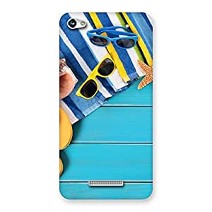 Gorgeous Cool Beach Print Back Case Cover for Micromax Hue 2