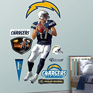 NFL San Diego Chargers Philip Rivers Home Wall Graphics by Fathead