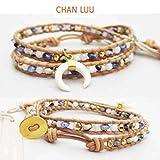 【正規品】CHAN LUUチャンルー ホーンチャームの2連ブレス BLUE MIX BG-4782 [ジュエリー] CAHN LUUチャンルー