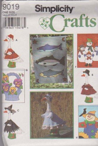OOP Simplicity Craft Pattern 9019. Seasonal Yard Flags & Seasonal Clothing for 22