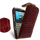 Celicious Maroon Croc Textured Flip Case for HTC ChaCha HTC ChaCha Case Cover