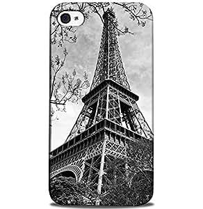 CASE U Back Cover Eiffel Tower in Paris Designer Case for Apple iPhone 4/4S