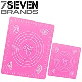 2 Set of Pink Silicone Pastry Mats. 19.5 X 15.5, and 11.25 X 10. SUPER DEAL On This One.