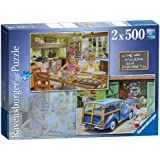 Ravensburger Day With Grandpa and Grandma Jigsaw Puzzles (Pack of 2, 500 Pieces Each)
