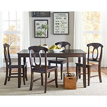 Standard Furniture Larkin 5 Piece Dining Room Set in Antique Cherry