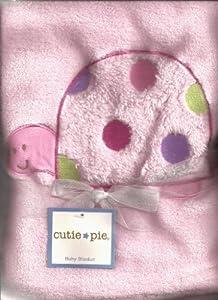 Cutie Pie Soft Baby Blanket: Pink Turtle