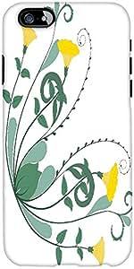 Snoogg Retro Floral Frame Corner Designer Protective Back Case Cover For Appl...