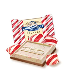 Ghirardelli Chocolate Squares, Peppermint Bark, 0.415-Ounce Squares (Pack of 540)