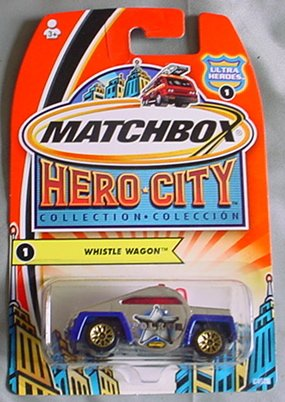 Matchbox Hero City Whistle Wagon #1 CHROME Ultra Heroes